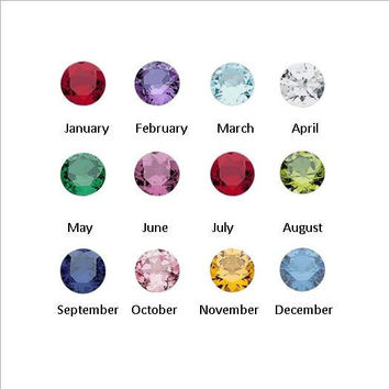 Birthstone floating charms 4mm round
