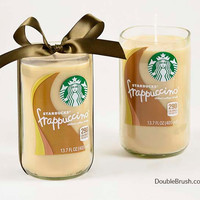 2 Large Starbucks Coffee Candles Gift Frappuccino