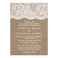 The Burlap & Lace Wedding Collection Invitations