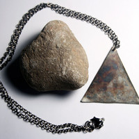 Industrial and Geometric Jewelry : Triangle Necklace