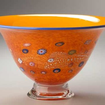 Daffodil Blossom Bowl by Ken Hanson and Ingrid Hanson (Art Glass Bowl) | Artful Home