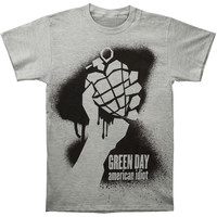 Green Day Men's  Stencil AI T-shirt Grey