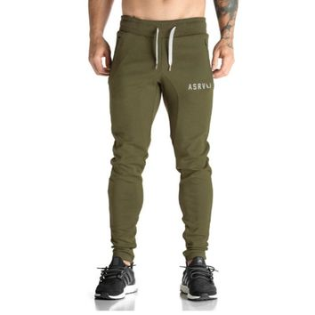 DATUTUSP Men Pants Casual Elastic Cotton Mens Fitness Workout Pants Skinny Sweatpants Trousers Jogger Pants