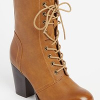 Tan Lace Up Boot