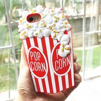 New 3D Popcorn Soft Silicone iPhone Case For iPhone 7, 8, Plus, X