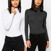 ASOS | ASOS The Turtleneck Top 2 Pack Save 10% at ASOS