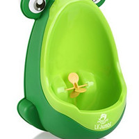 Lil' Jumbl Toddler Urinal Wheel Spin Child Choice Potty Trainer (Green)