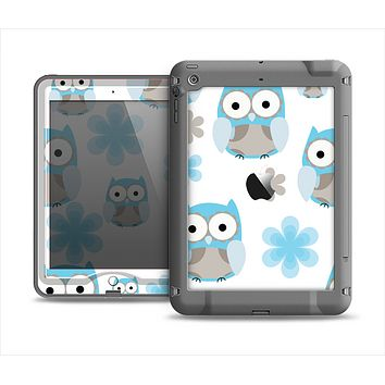 The Subtle Blue Cartoon Owls Apple iPad Mini LifeProof Nuud Case Skin Set