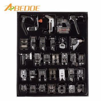 32pcs PCS/Set Sewing Machine Foot Domestic Sewing Machine Foot Feet Snap On presser foot singer sewing machine