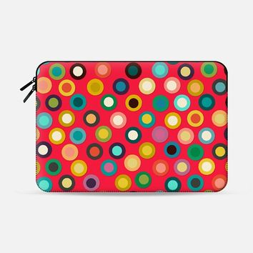 "red pop spot macbook Macbook Pro 13"" sleeve by Sharon Turner 