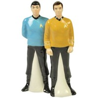 Spock and Captain Kirk Ceramic Salt & Pepper Shakers