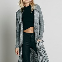 Free People Womens Shadow Stripe Cardigan