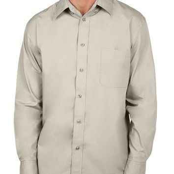 LE3NO Mens Classic Long Sleeve Button Down Dress Shirt with Pocket (CLEARANCE)