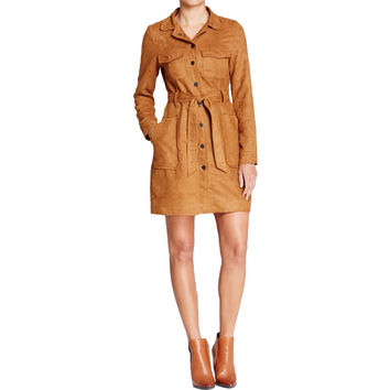 Sanctuary Womens Faux Suede Outerwear Coat