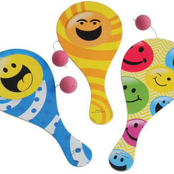 smiley face paddle balls Case of 120