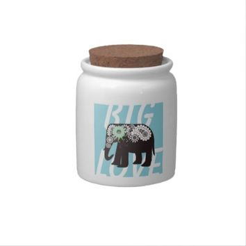Paisley Elephant Cute Candy Jars: Big Love: Funny and Girly Wild Animal Design Candy Dishes