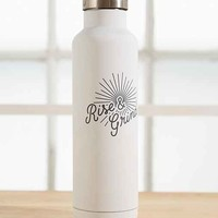 Mizu Rise + Grind Bottle- White One