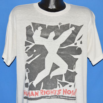 80s Human Rights Now Bruce Springsteen Tour t-shirt Extra Large