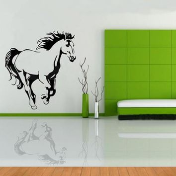 Galloping Horse Wall Murals Wall Art Cavalo Animal Poster Stencils for Wall Decals Horses Wallpaper For Home Decor Wall Stickers