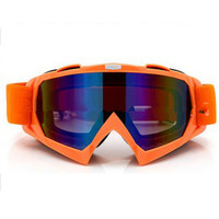 Adult Colourful double Lens Snow Ski Snowboard Goggles Motocross Anti-Fog Fashion Eye Protection Orange Colourful