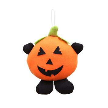 1pc Halloween Doll Pumpkin Hanging Ornament Stuffed Small Toy Sofa Tabletop Bed Decoration for Living Room Bedroom