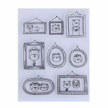 Fashion Transparent Clear Stamps for Scrapbooking DIY Silicone Stamp Seals Scrapbook Card Photo Album Making Stamping Supplies