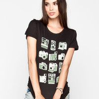 Vans Retro Focus Womens Tee Black  In Sizes