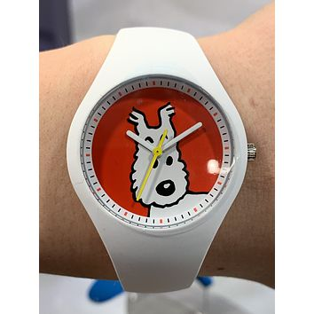 Tintin Watch, Characters, Snowy, White, Small