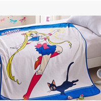 Sailor Moon Tsukino Usagi Luna Air conditioning blankets Summer quilt Sheet tapete
