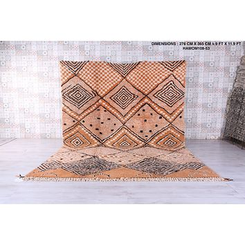 Large moroccan rug, 9 FT X 11.9 FT, all wool