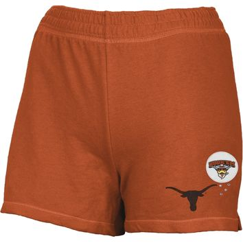 Texas Longhorns - Glitter Logo Girls Youth Athletic Shorts - Youth 14