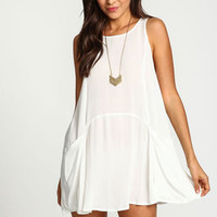 White Breezy Slip Dress