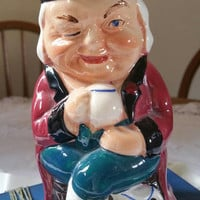 Burlington ware toby jug/1950s collectable china/comical toby jug/ships worldwide from UK