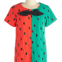 ModCloth Fruits Mid-length Short Sleeves Test the Watermelon Top