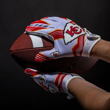 Kansas City Chiefs Ultimate Fit Youth Receiver Gloves
