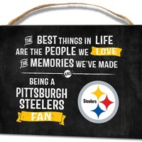 Pittsburgh Steelers Best Things In Life Small Wooden Plaque Wall Hanging