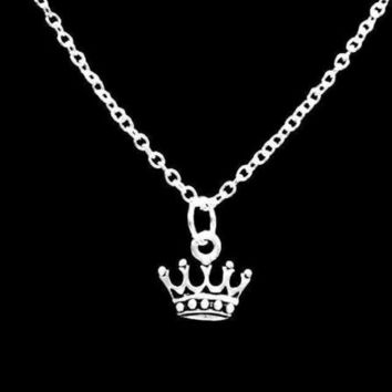King's Crown Charm Gift Princess Queen Daughter Wife Necklace