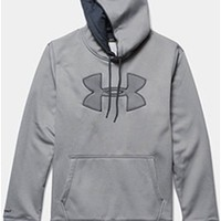 Gliks - Under Armour Storm Armour Fleece Big Logo Hoodie for Men in Heather Grey