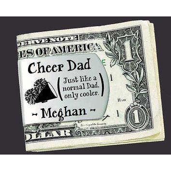 Cheer Dad Personalized Money Clip | Gift for Dad