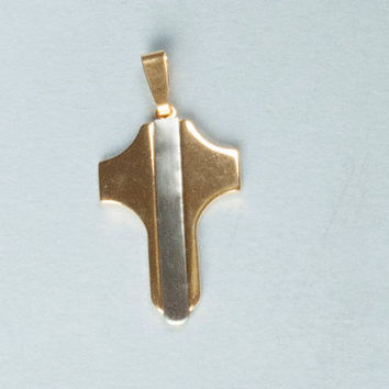 Unisex 14K Gold Filled Pendant Jewelry Cross, Holy cross