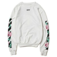 """OFF-White"" Fashion Casual Letter Print Long Sleeve Pullover Sweater"