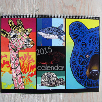 Animal Zentangle 2015 Calendar - PRESALE
