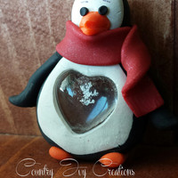 penguin Preserved Real Snowflake Ornament, real preserved snowflake, Frozen
