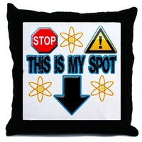 Big Bang Theory Sheldon's Spot Throw Pillow on CafePress.com