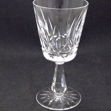 Signed Waterford cut glass Rosslare goblet