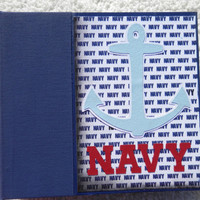 6x6 US Navy Scrapbook Photo Album