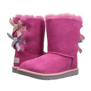DCCKH3F UGG' Fashion Winter Women Cute Bowknot Flat Warm Snow Ankle Boots