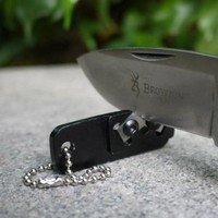EDC GEAR Portable Tungsten Steel Knife Sharpener With Keychain Whetstone Grindstone Sharpen Survive
