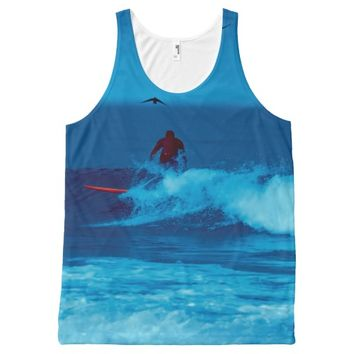 Surfing unisex tank top All-Over print tank top
