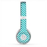 The Trendy Blue & White Sharp Chevron Pattern Skin for the Beats by Dre Solo 2 Headphones